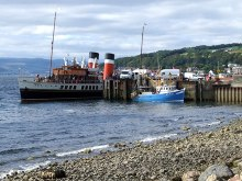 Largs, The Paddle Steamer Waverley at LargsAyrshire © Dave Hitchborne